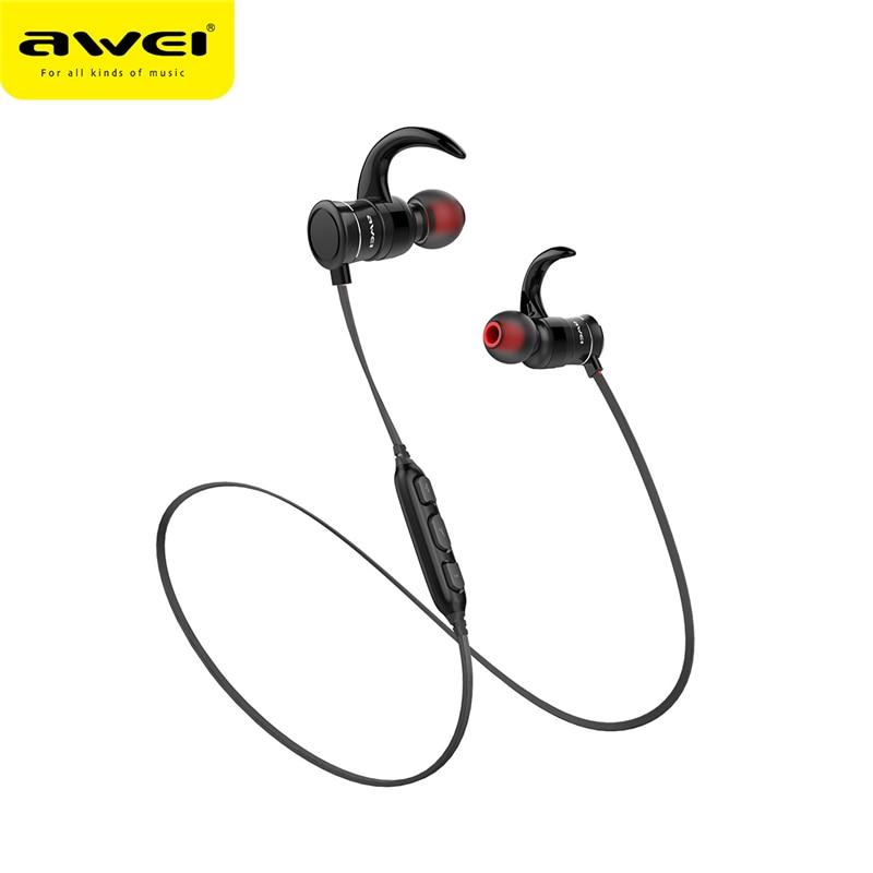 AWEI AK5 Bluetooth Earphone Wireless In-ear Sports Earphones With Magnetic Controller Headset Blutooth Earphone for Smartphones