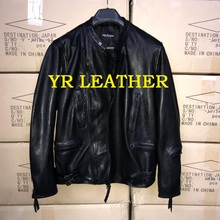 YR!Free shipping.Pakistan tanning sheepskin.Brand man Luxury casual leather jacket,vintage genuine leather coat,classic