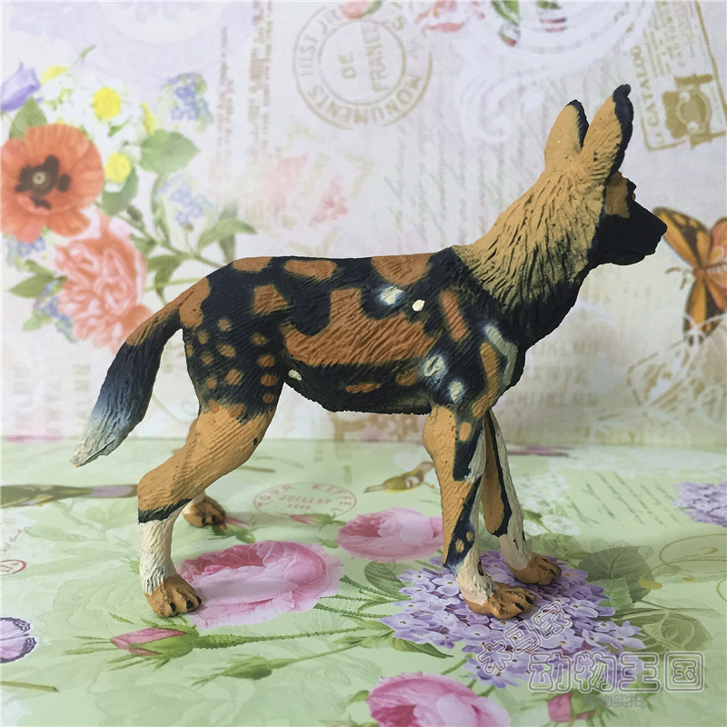 Pvc  Figure Simulation Wild Animal Model  African Wild Dog