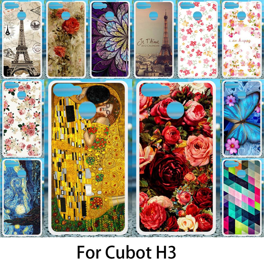 Akabeila Soft Case For Cubot H3 Silicon Cases DIY Flower Painted For Cubot H3 Anti-knock Phone Cover