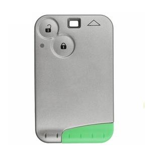 Image 3 - מרחוק חכם מפתח 2 כפתור כרטיס 433MHZ Pcf7926 שבב משדר עבור רנו לגונה 2 Espace שליטה