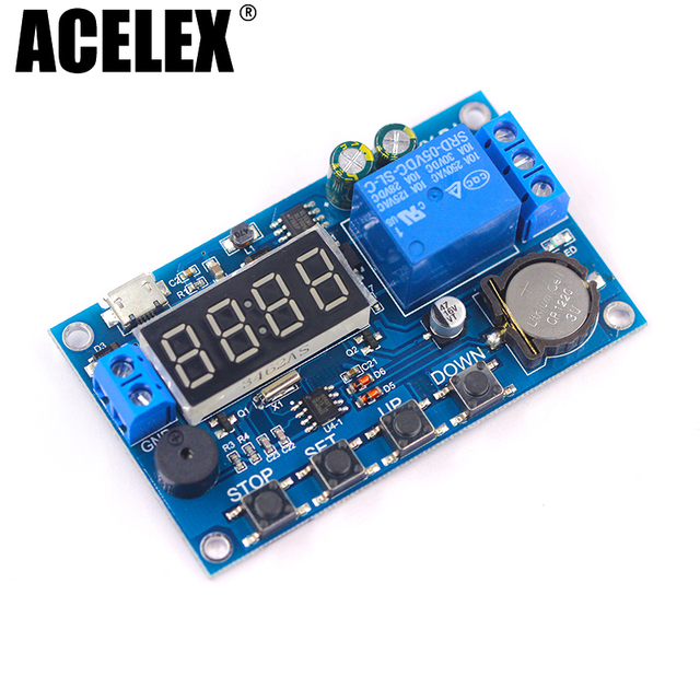 DC 5V Real time Timing Delay Timer Relay Module Switch Control Clock