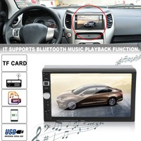 7026TM Dual Din 7 Inch Car Mp5 Player Multimedia Head Unit FM Radio GPS Navigation Bluetooth USB AUX With Camera