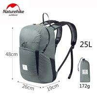 Naturehike 25L Travel Backpack Outdoor Sports Bag Camping Hiking Bag Men Women Folding Backpack Ultralight Waterproof Bags