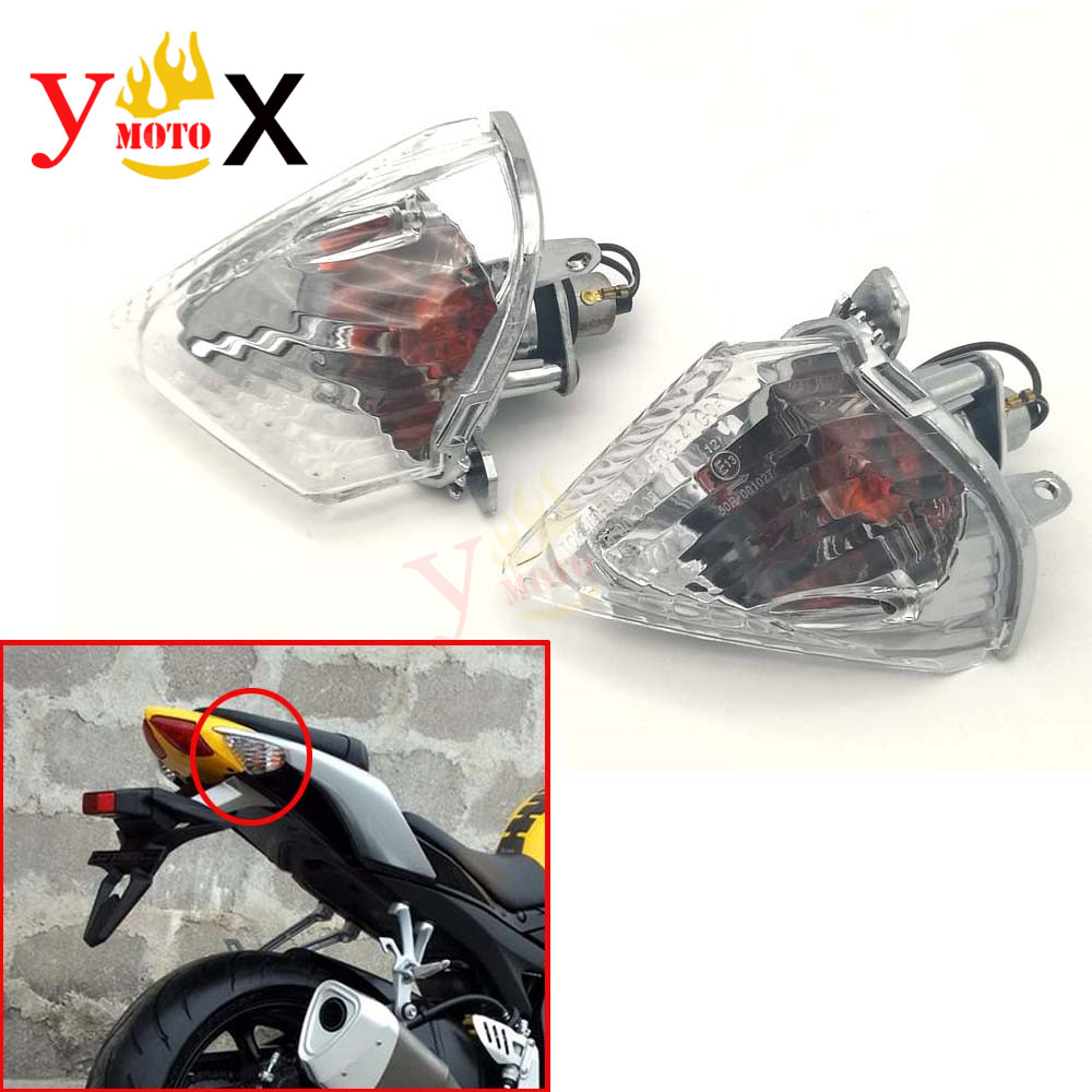 Rear Turn Signal Light Indicator Flasher Lamp Blinker Clear Lens for <font><b>Suzuki</b></font> GSXR600 GSXR750 <font><b>K6</b></font> 2006 2007 / <font><b>GSXR1000</b></font> K5 2005 2006 image