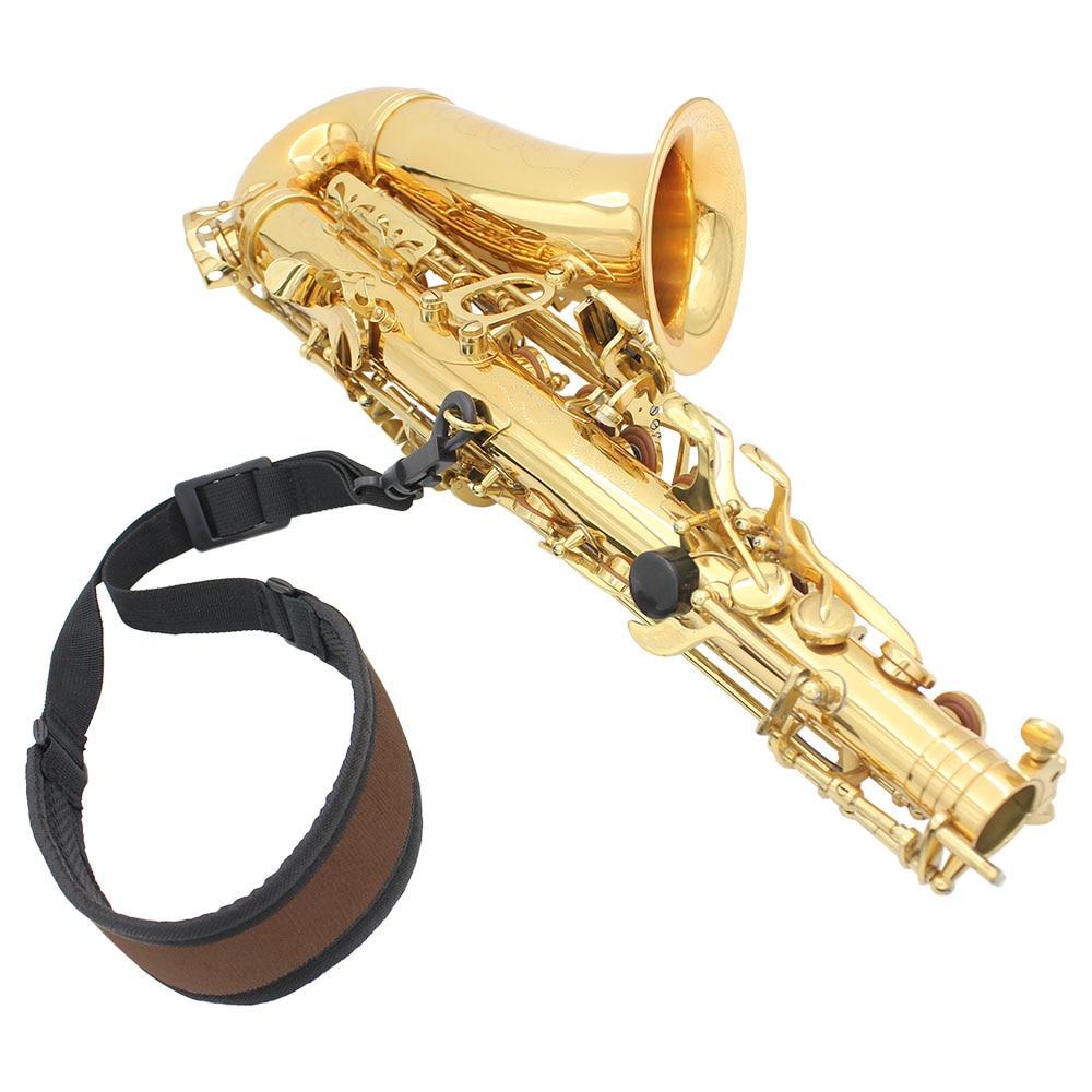 Professional Adjustable Harness Shoulder Black Sax Saxophone Belt Neck Strap For Saxophone Accessories