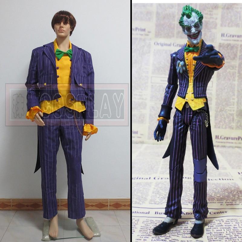 Vente chaude film sur mesure Batman cosplay costume Arkham asile Joker Cosplay Costume manteau costume