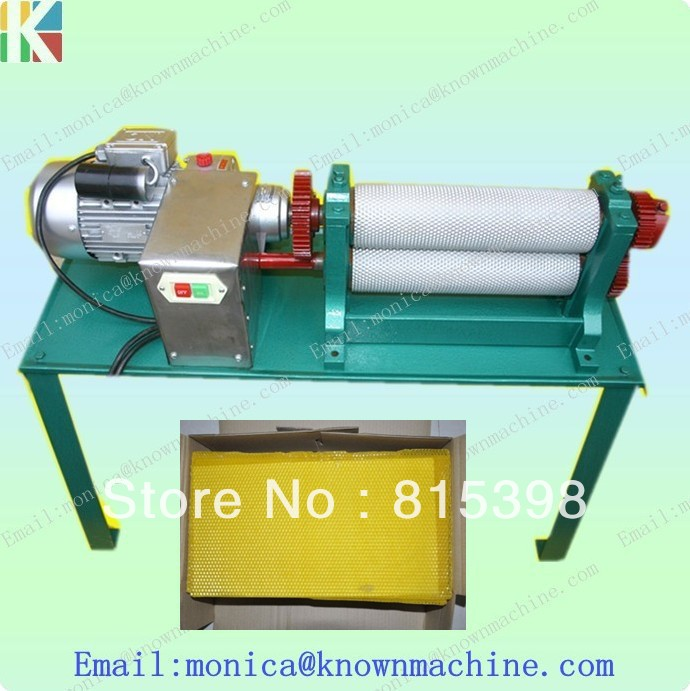 74*250mm electirc beeswax stamping foundation sheet roller machine 86 250mm competitive price bees wax foundation machine