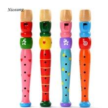 Красочные деревянные Трубы велосипедный рожок Гудок Горн образования детей Детское игрушка в подарок