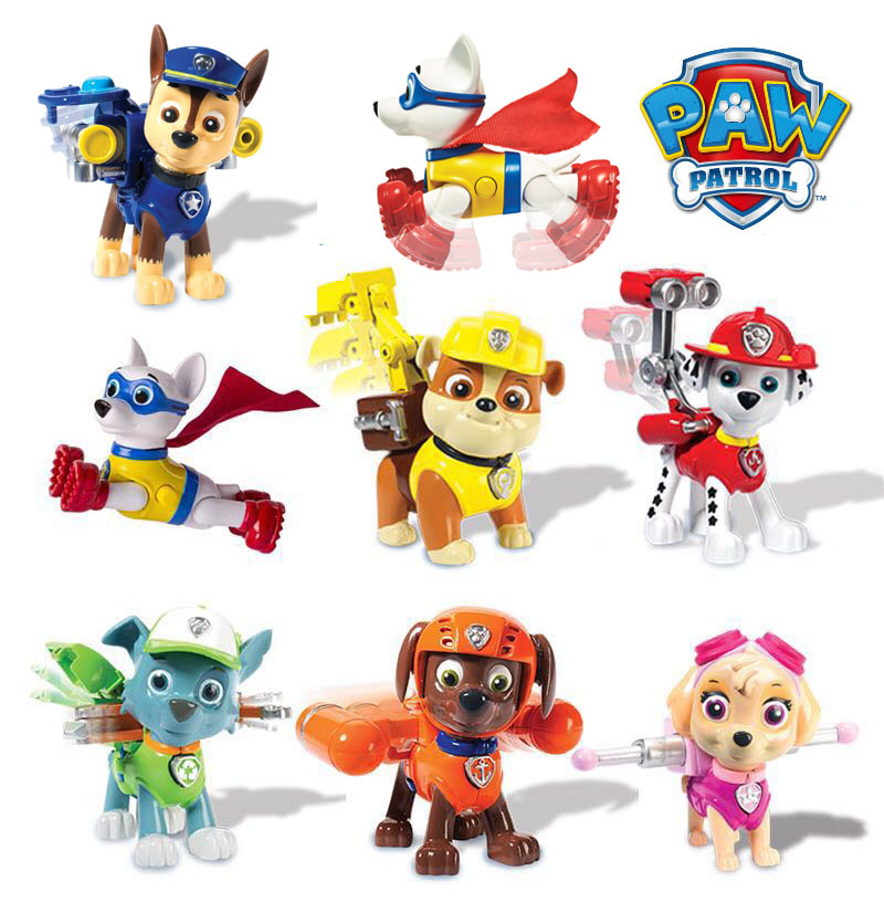 Paw Patrol Action Pack Pups Figure Set Marshall Tracker 3pk Apollo