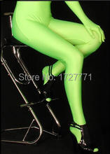 (LS57)Shiny Lycra Spandex Opaque Tights Unisex original Fetish Zentai Leggings Pants