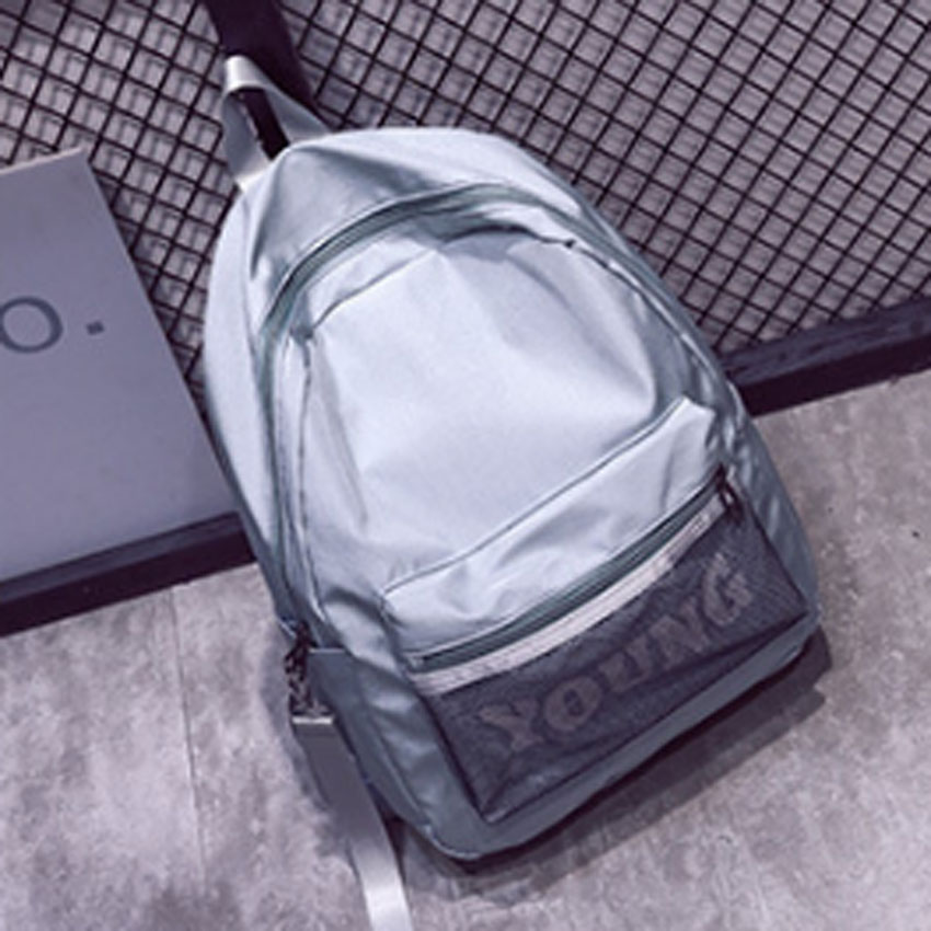 New Design Women Waterproof Mesh Backpacks Letter College Preppy Casual Bag School Bags For Teenagers Girls