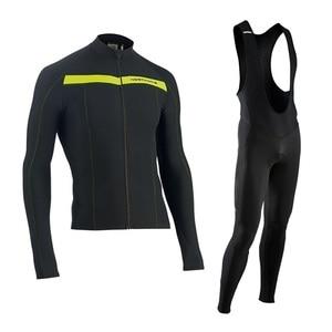 Image 3 - NW 2019 לנשימה רכיבה על אופניים בגדי סט Northwave ארוך שרוול קיץ ג רזי גברים חליפת חיצוני sportful אופני MTB בגדי paded