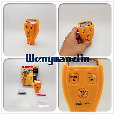 Digital Thickness Gauge LCD Paint Coating Tester 0-1.8mm/0.01mm Car Painting Measuring Tool A23  цены