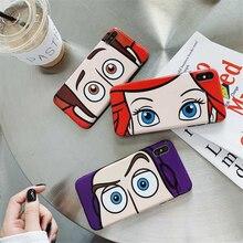 De dibujos animados de juguete historia Buzz Lightyear para iphone 11 Pro X XS X Max XR 6s 6 7 8 plus brillante ojos grandes imd de silicona suave cubierta