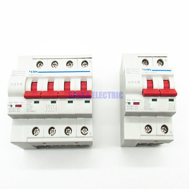 2P 4P Solar Automatic Reclosing Miniature Circuit Breaker for Photovoltaic System Automatic Reconnection Mini MCB цена