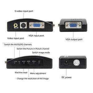 Image 4 - Wiistar adaptador/convertidor de salida RCA CVBS Composite s video AV a VGA, alta resolución para Monitor Notebook, color negro