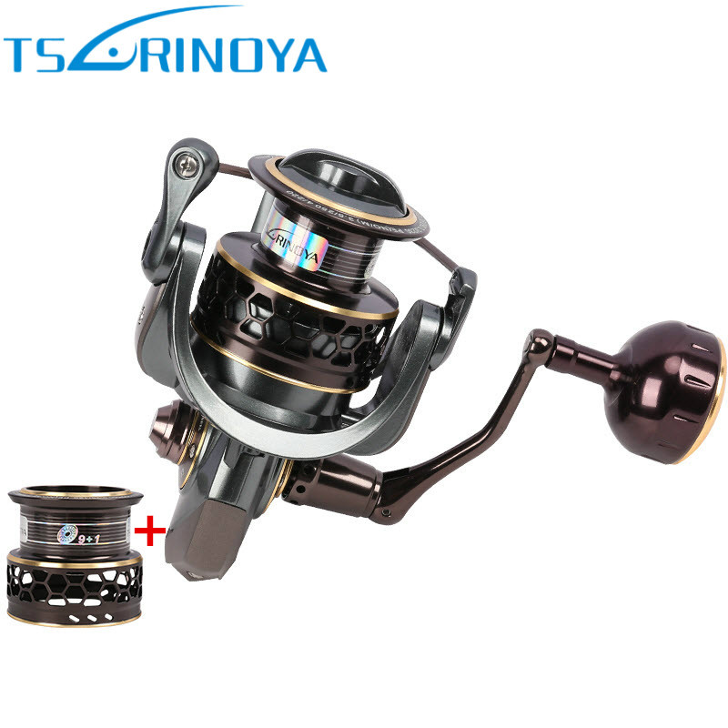 Tsurinoya Jaguar 4000 Spinning Fishing Reel Double Spool 9+1BB 5.2:1 Max Drag 7kg Wheel Moulinet Carretilhas De Pescaria Coil tsurinoya jaguar 4000 spinning fishing reel double spools 9 1bb 5 2 1 max drag 7kg wheel moulinet carretilhas de pesca coil