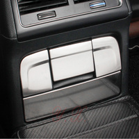 Car styling stainless steel For Audi Q5 Rear cigarette lighter Decoration Trim covers Sticker for Audi interior accessories