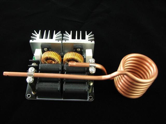 Metal fundido ZVS calentador de inducción De Alta frecuencia máquina de calefacción Deben traer su propio poder