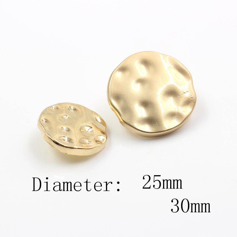 25mm <font><b>30mm</b></font> 10pcs/lot metal <font><b>button</b></font> gold sweater coat decoration shirt <font><b>buttons</b></font> accessories DIY JS-0069 image