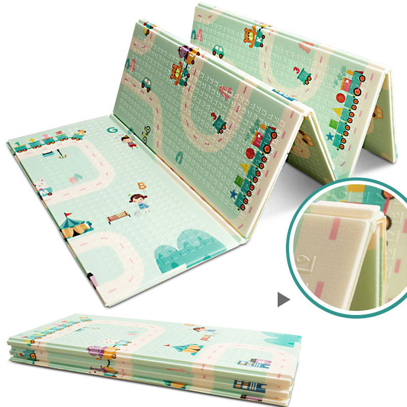 Baby XPE Foldable Big Play Mat Puzzle Crawling Pad Game Blanket infant Baby Room Foam Carpet for Kids Child 195*175cm 1 4cm thick cartoon puzzle play mat 28pcs lot baby crawling rug climb pad children carpet eva foam kids game soft floor toy 450