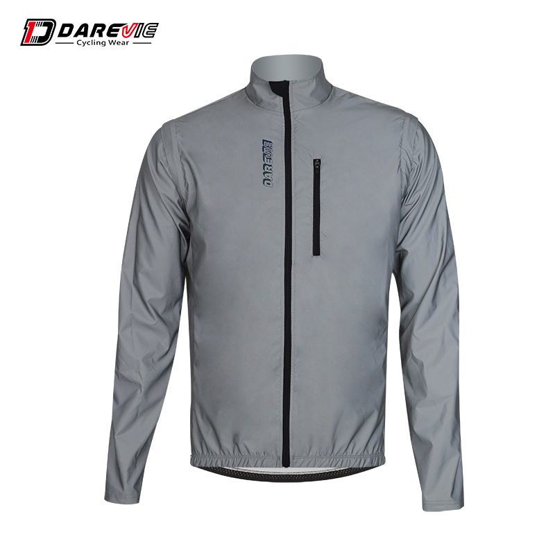 Darevie sports man long sleeve removable sleeves reflective jacket