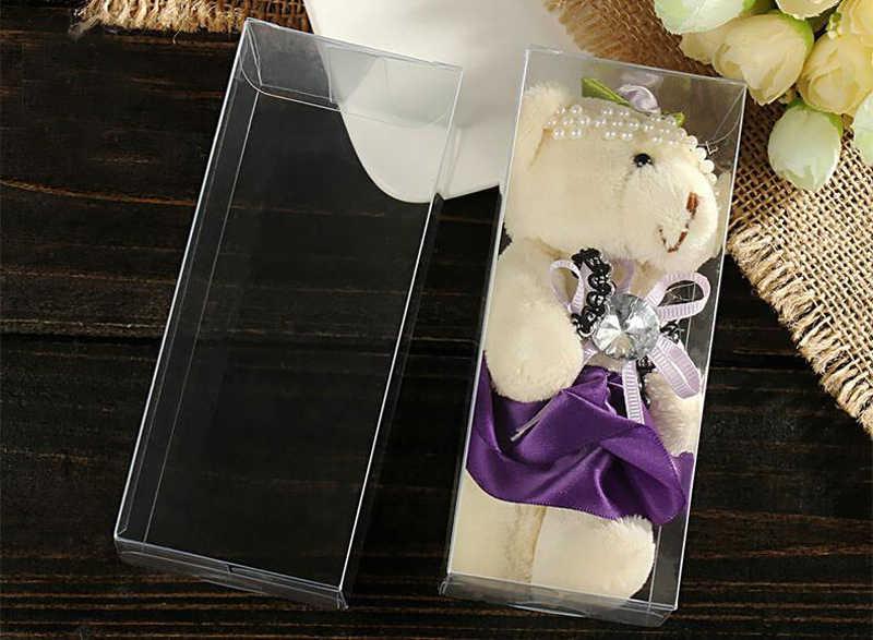 50 pcs 7x7xh jóias caixas de armazenamento caixa de plástico transparente caixa de presente claro pvc embalagem caixa de Exibição pvc boxen para wed/natal