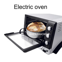 Electric oven 20L Home timed baking skewers 220V Multifunctional automatic Bread oven bread making machine 1400W 1pc