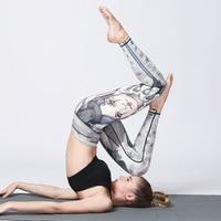 Athletic Yoga Leggings Women Printed High Waist 3D Sport Workout Leggings Gym Fitness Elastic Quick Dry
