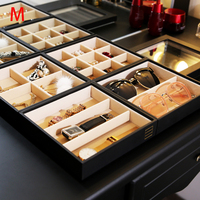 M jewelry storage tray black PU color jewelry display tray customize tray Z1411