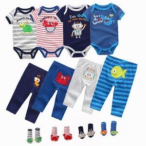 Image 3 - スーパーソフト綿 100% の夏の少年少女半袖 o ネック 6 12 m 赤ちゃんジャンプスーツの女の子 ropa ベベベビー服