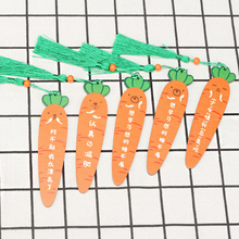 1X Creative cute carrots wooden Promotional Gift Bookmarks Stationery Kawaii Cartoon Office School Supply
