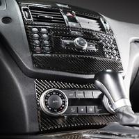 For Mercedes C class W204 Car Styling Carbon Fiber Interior Trim Mercedes Car Emeblem Stickers Decals
