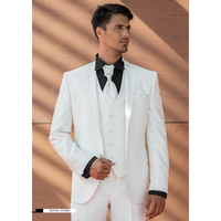 Custom Made Ivory Wedding Men Suit Italian Groom Blazer Prom Suits Slim Fit Prom/Party Suits Men Blazer (Jacket+Pants+Vest)