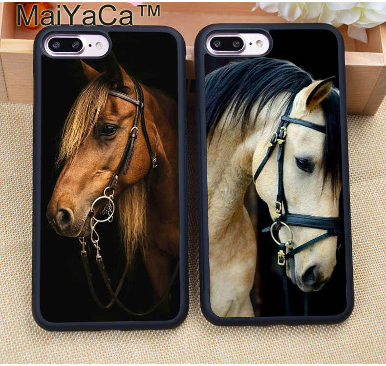 MaiYaCa Handsome Horse Animal Phone Case For iphone XR XS MAX 11 Pro MAX X 6 6S 7 8 Plus 5 5S Back Cover Shell