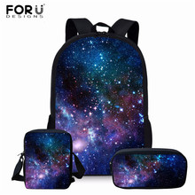 FORUDESIGNS Backpack for Teenager Girls Boys School Bags the Space Galaxy Women Travel Bagpack Children Rucksack