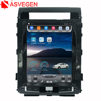 12.1 inch Tesla Style Android Quad Core Car Stereo DVD Player GPS Navigation For TOYOTA LAND CRUISER LC200 2008 2015
