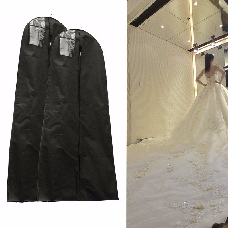 Meigar 1.6/1.8M Waterproof Wedding Gown Bag Bridal Wedding Dress Dustproof Protective Cover Closet Wardrobe Storage AccessoriesMeigar 1.6/1.8M Waterproof Wedding Gown Bag Bridal Wedding Dress Dustproof Protective Cover Closet Wardrobe Storage Accessories
