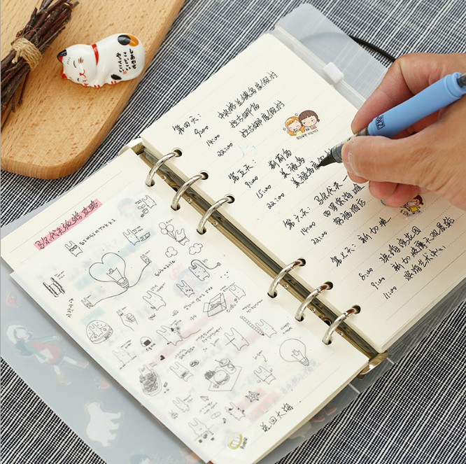6 Sheets/lot Cute Rabbit Sticker DIY Scrapbooking Diary Sticker Kawaii Stationery Sticker For Kids