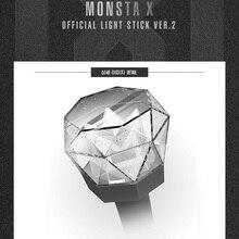 재고 있음 led kpop monsta x 라이트 스틱 ver.2 공식 2018 새로운 스틱 램프 콘서트 라이트 업 램프 선물 컬렉션 hiphop lights