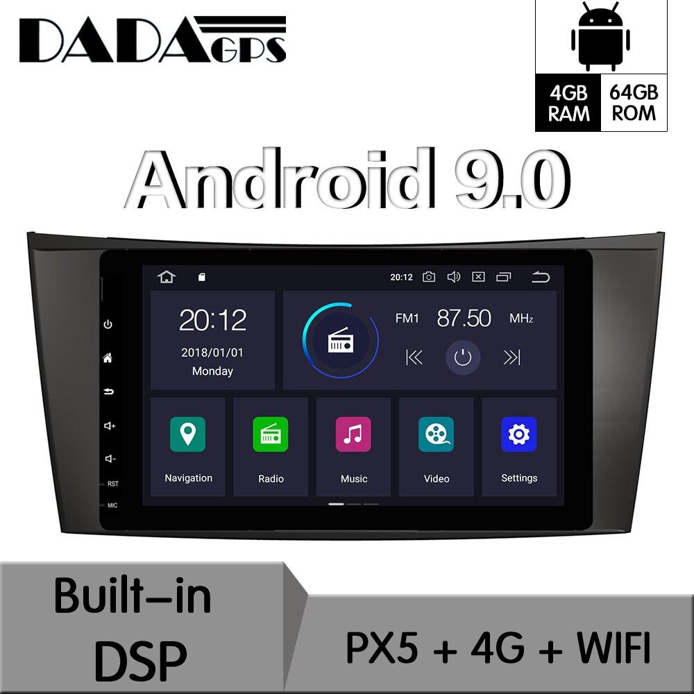 אנדרואיד 9.0 מובנה DSP רכב לא DVD נגן רדיו עבור מרצדס W211 W219 W463 CLS 350 CLS500 CLS55 E200 E220 e240 E270 E280 GPS