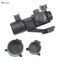 Tactical Hunting 1X30 Red/Green Dot Scope Laser Sight With Fiber Instructions Picatinny Weaver 20mm Rail Mount CAZA