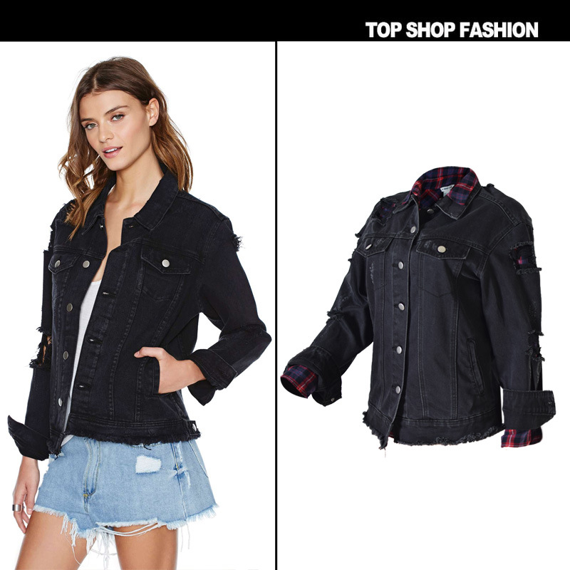 2017 Fashion Black Winter Bomber Women Spring Autumn Bomber Coat ... aff670611615