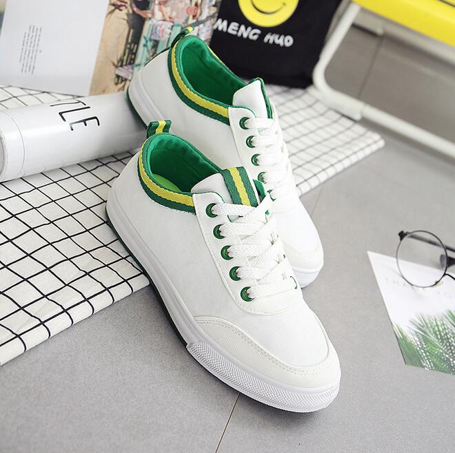 Women Shoes New Fashion Flat Shoe Laces Trainers Breathable Shoe Canvas Leisure Casual Flats zapatillas mujer tenis feminino summer women shoes casual cutouts lace canvas shoes hollow floral breathable platform flat shoe sapato feminino lace sandals