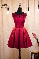 2018 бордовый Homecoming платье без рукавов Кружево на спине коктейльное праздничное платье выше колена без рукавов Кружево Короткие вечерние пла