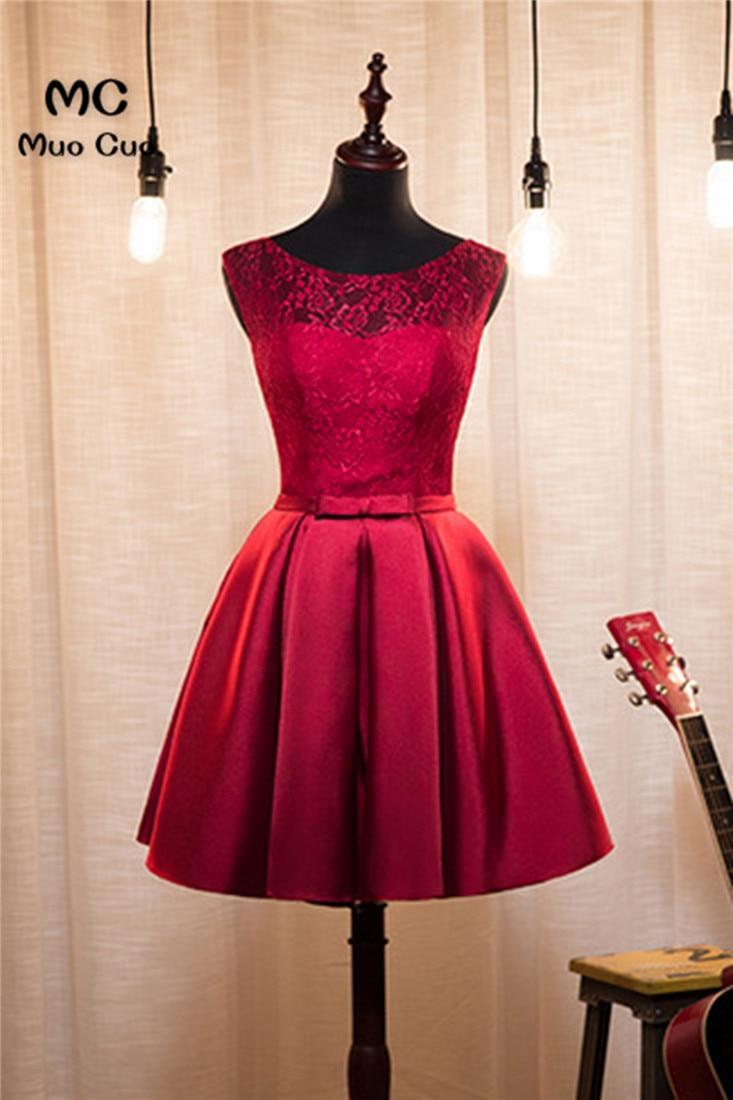 2018 Burgund Homecoming Kleid Sleeveless Lace Up Zurück Cocktail Party Kleid über Knie-sleeveless Spitze Kurze Heimkehr Kleid