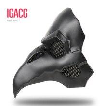 PVC סוג!!! IGACG פאנק מסכת עורב Reaper Nevermore עור מסכות Reaper מגפה רופא מסכת ציפורים ארוך האף פאנק עורב רטרו רוק