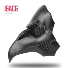 PVC Type!!! IGACG Punk Mask Crow Reaper Nevermore Skin Masks Reaper Plague Doctor Mask Birds Long Nose Punk Crow Retro Rock