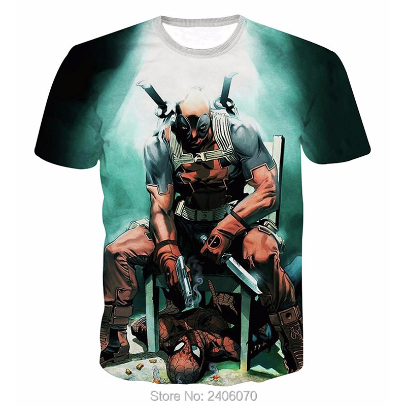 Teenager boy t shirt children summer kids clothes deadpool 3d t-shirt teens boy tees tops 3d sweatshirt superhero costume-4
